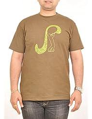 Stallion Cottons Men's Round Neck Cotton T-Shirt - B00ZIHQYEG
