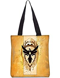 Snoogg Coat Of Arms With The Bird Digitally Printed Utility Tote Bag Handbag Made Of Poly Canvas