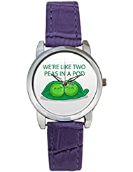 Bigowl We're Like Two Peas In A Pod Analog Women's Wrist Watch 2003795903-RS3-S-PUR