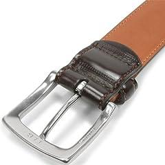 Layered Cordovan Dress Belt KTB-158: Dark Brown