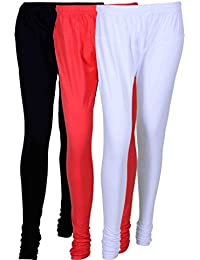 Cotton Leggings (Culture The Dignity Women's Cotton Leggings Combo Of 3_CTDCL_BPW_BLACK-PINK-WHITE_FREESIZE)