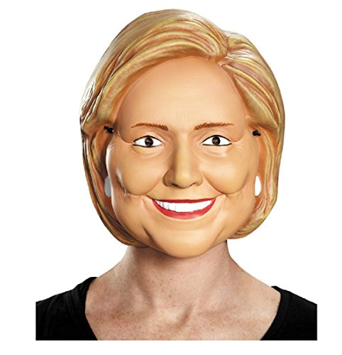 Trump and Clinton Halloween Costumes - Choose Edgy or Funny - Disguise Costumes Hillary Clinton Vacuform 1/2 Mask, Adult
