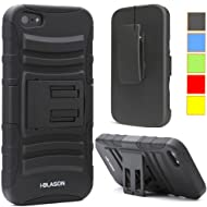 I-Blason Apple IPhone 5S / 5 Prime Series Dual Layer Holster Case With Kickstand And Locking Belt Swivel Clip...