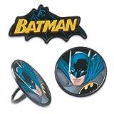 Batman Cupcake Rings - 12 count