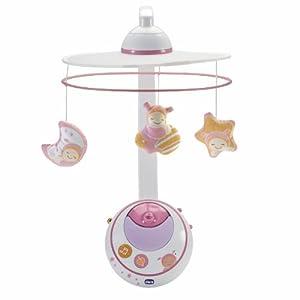 Amazon.com : Chicco Magic Star Cot Mobile (Pink) : Crib