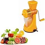 Saffron Fruit & Vegetable Juicer Mixer Grinder With Steel Handle, Orange - By A To Z Sales-AZ5012