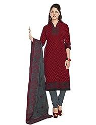 AASRI Party Wear Pure Cotton 3 Piece Unstitched Salwar Suit 327