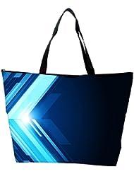 Snoogg Blue Pattern Design Designer Waterproof Bag Made Of High Strength Nylon - B01I1KJLQO