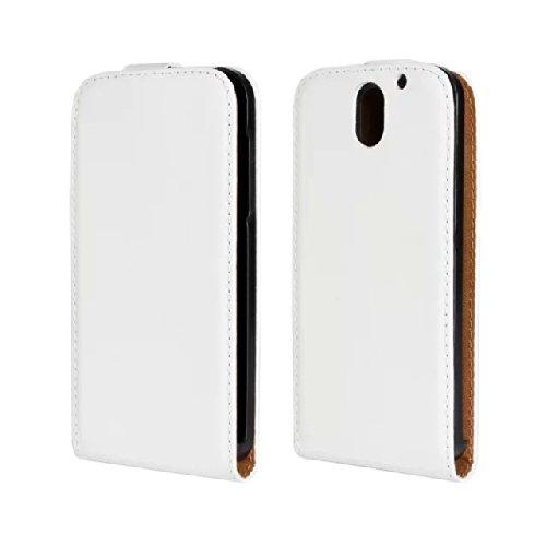 JBG HTC Desire 610 White Leather Case Flip Cover