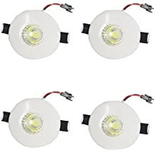 Galaxy LED 3W Round Panel COB Ceiling Light, Color Of LED Warm White (Pack Of 4)
