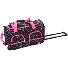 Rockland Luggage Rolling 22 Inch Duffle Bag Heart1 One Size