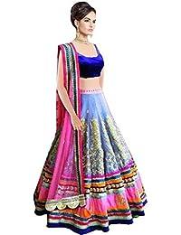 Arawins Women's Ethnic Clothing Multi Silk Net Lehenga Choli For Party Wear Latest Designs In Girls Ghagra Chaniya...