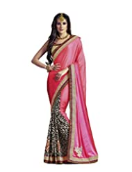 DivyaEmporio Women's Traditional Georgette Saree/Sari With Unstitched Blouse (Free Size) - B00SHCCC9K