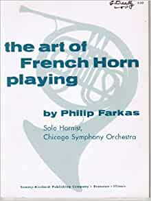 Art of french horn playing pdf