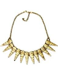 Vinnis Golden Spikes Metal Alloy Necklace