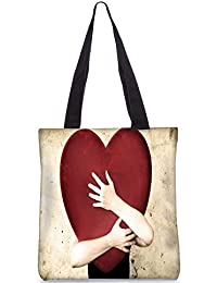 Snoogg Falling In Love Digitally Printed Utility Tote Bag Handbag Made Of Poly Canvas