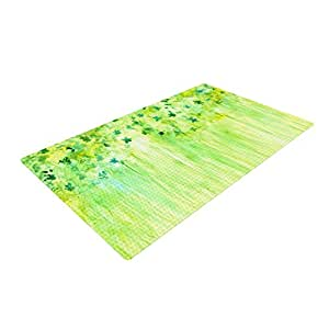 green kitchen mat kess inhouse rosie brown quot april showers quot lime 1417