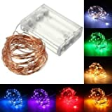Generic 5M 50 LED Copper Wire Fairy String Light Battery Powered Waterproof Xmas Party Décor-red