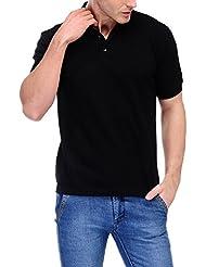 Scott Men's Premium Cotton Polo T-shirt - Black
