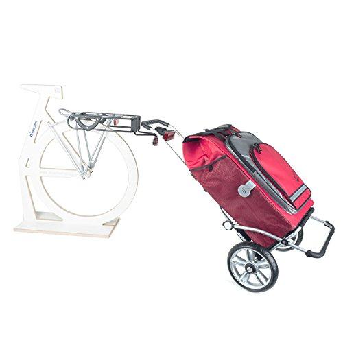 Oferta especial: Andersen carro de compras Royal Hydro con acoplamiento para remolque de bicicleta para el portaequipaje | bolsa de compras color rojo con compartimiento isotérmico
