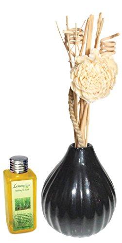 Reed Diffuser Set (Ovel Shape) With 100ml Lemongrass Diffuser Oil,Reed Sticks - B010NCMNYA