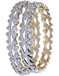 RETTOL American Diamond Pair Of Bangles Set For Women''s - B01KT3RY6U