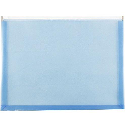 Blue Plastic Zip 9 1/2 x 12 1/2 - Letter Booklet Envelopes