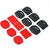 Alcoa Prime HOT SALE ! NEW 12Pcs Helmet Accessories Flat Curved Adhesive Mount For Gopro Hero 1/2/3 /3+, IN STOCK!