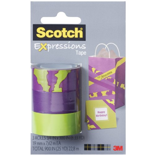 """3M NOM046861 Scotch Expressions Tape Removable 3/4"""" x 300"""","""