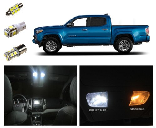 2016 Toyota Tacoma LED Lighting Interior Package Kit White (9 pieces)