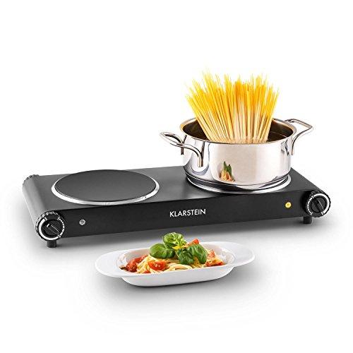 Klarstein Captain Cook² plaques de cuisson à induction (taille compacte, puissance 2400W, chauffe rapide, temperature réglable 60 - 240°C, minuterie, ...