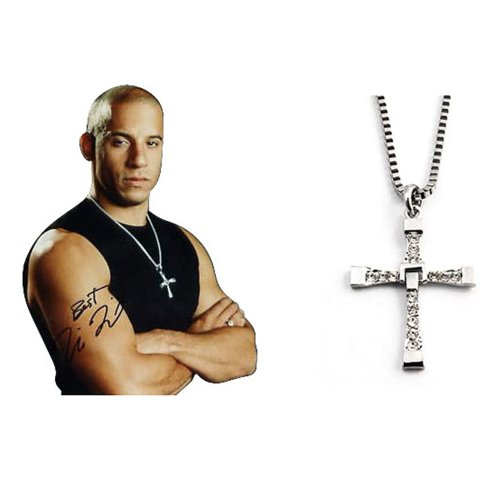Vin Diesel Cross Necklace: Dominic Toretto Pendant Necklace Fast And Furious Vin