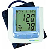 HealthSmart Standard Clinically Accurate Automatic Digital Upper Arm Blood Pressure Monitor With LCD Display,...