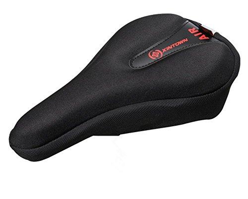 Premium Bicycle Bike cycling Gel Seat Cover Cushion- Most Comfortable Bike Saddle Cushion Spin Class or Outdoor Biking (Black-2)