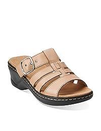 Clarks Women's Lexi Alloy Slide Slide Fashion Sandals