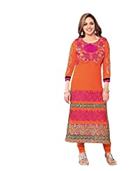 Stylish Dress With Cotton Top And Cotton Bottom And Naznin Dupatta