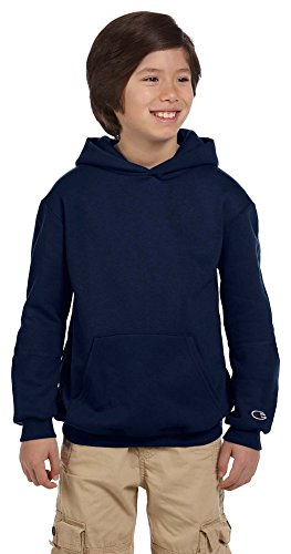 Champion Youth Eco Youth 9 oz. Pullover Hood, Large, NAVY