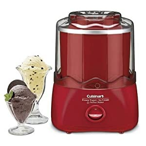 Cuisinart Frozen Dessert Maker (RED) - Frozen Yogurt, Ice-Cream & Sourbet