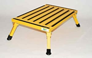 Safety Step XL-08C-Y Yellow X-Large Folding Recreational Step Stool