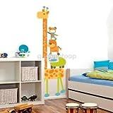 Alcoa Prime Lovely Giraffe Wall Art Sticker Removable Vinyl Decal Kids Room Height Chart