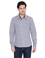 Blue Wave Slim Fit Checks Shirt - B017MD6AHE