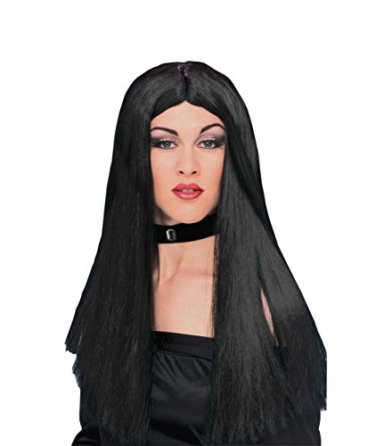 Great Group Halloween Costumes: The Addams Family - Morticia Wig - Long Straight, black