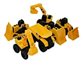 Toy State CAT Caterpillar Construction Toys Mini Machine set of 6, Assorted - Dump Truck, Bulldozer, Wheel Loader and Excavator- individually Packaged Free-Wheeling Vehicle Sand Box Toy Children Imagination Fun Also Great As Functional Cake Toppers