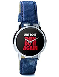 BigOwl Just Do It Then Do It Again Men's Analog Wrist Watch 2003078302-RS1-W-BLU