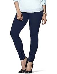 Divine Creation Women's Cotton Leggings(Divine Creation003_Blue_Free Size)