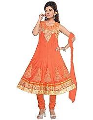 Elan Vital Women's Silk Cotton Anarkali Salwar Suit - B0188YGY8Q