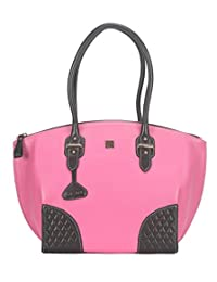 Adamis Beautiful Designed Handbag (Pink_B706)