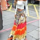 Alcoa Prime Women Boho Hippie Ladies Long Maxi Skirt Summer Beach Casual Party Dress