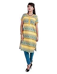 El Sandalo Cotton Printed Women Wear Kurti - B013WH07SM