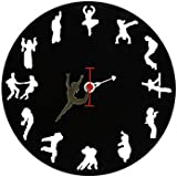 Wall Clock Dance Lover, Unique, Designer, Round, Black | Perfect Gift | Bar Accessories | Wall Design | Home Decor | Antique Wall Clock | Unique & Funky | Customized Gifts | Handmade